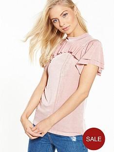 v-by-very-frill-slinky-top-pink