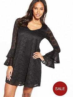 v-by-very-lace-v-neck-tiered-sleeve-dress