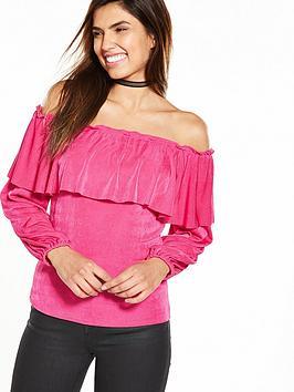 v-by-very-bardot-slinky-top-bright-pink
