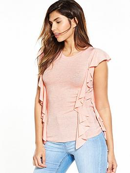 v-by-very-frill-snit-top-pink