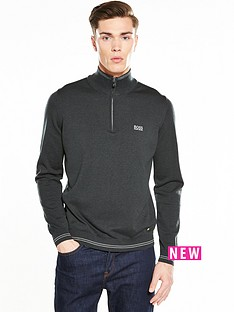 boss-green-half-zip-jumper