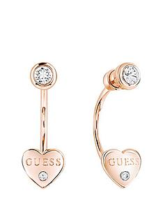 guess-rose-gold-platednbspswarovskireg-crystal-heart-earrings