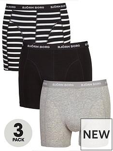 bjorn-borg-3pk-stripeplain-trunks