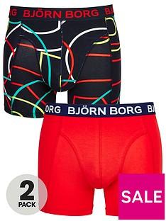 bjorn-borg-2pk-patternplain-trunks