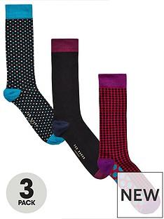 ted-baker-3pk-spot-sock