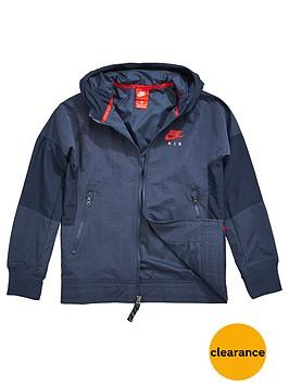 nike-air-older-boys-water-repellent-jacket-navy