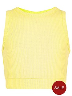 river-island-girls-yellow-ribbed-crop-top