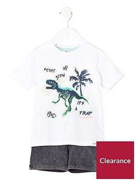 river-island-mini-boys-dinosaur-print-t-shirt-amp-short-outfit