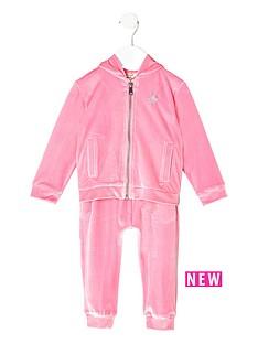 river-island-mini-girls-pink-velour-hoodie-set