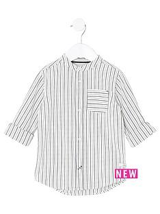 river-island-mini-boys-cream-stripe-grandad-shirt