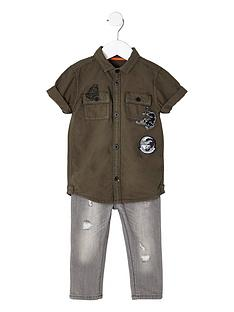 river-island-mini-boys-khaki-panther-patch-shirt-outfit