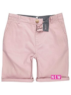 river-island-boys-pink-chino-shorts