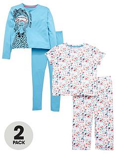 v-by-very-2-pack-floral-pyjamas