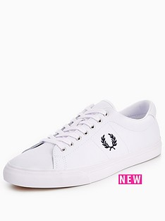 fred-perry-underspin-leather-plimsolls