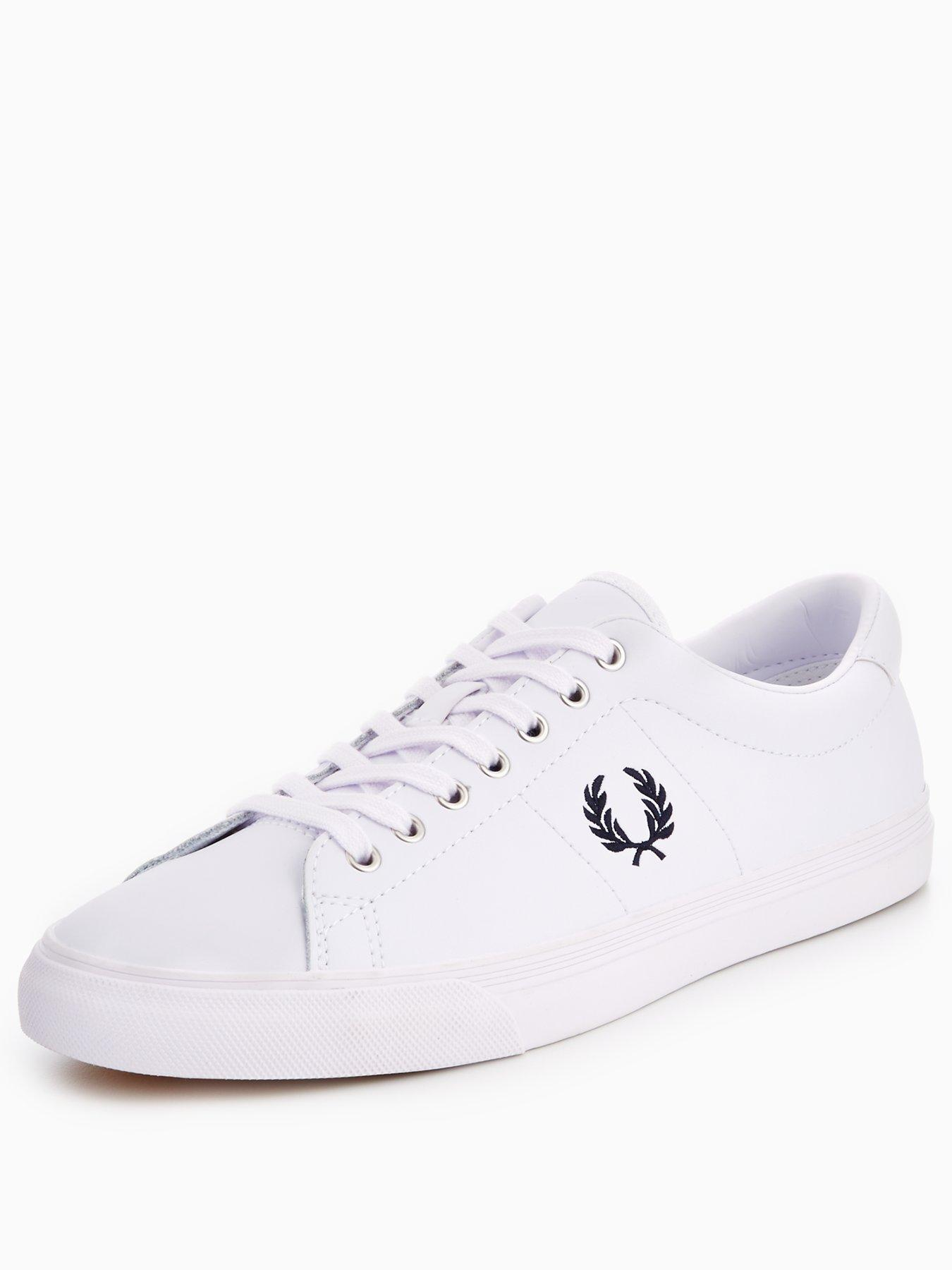 Fred Perry Underspin Leather Plimsolls 1600171477 Men's Shoes Fred Perry Pumps Plimsolls
