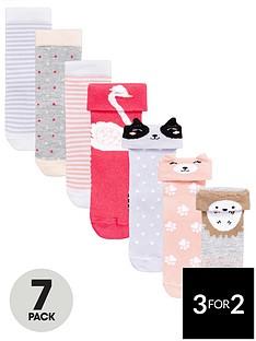 mini-v-by-very-girls-7pk-woodland-animal-socks