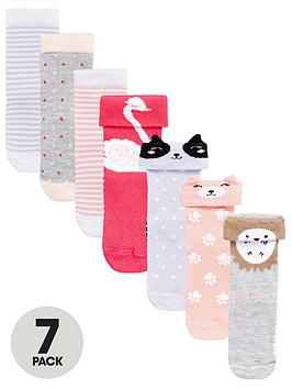 mini-v-by-very-girls-7pk-woodland-animal-socks