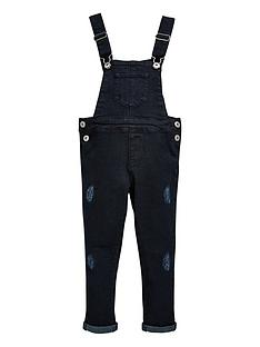 mini-v-by-very-girls-black-denim-stretch-dungaree
