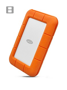 LaCie 2Tb Rugged Thunderbolt Shock & Drop Resistance Portable External Hard Drive for PC & Mac