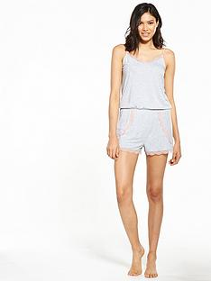 v-by-very-lace-trim-playsuit-grey
