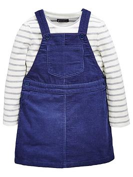 mini-v-by-very-girls-navy-cord-pinafore-amp-stripe-top