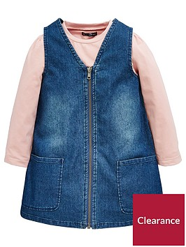 mini-v-by-very-girls-denim-zip-pinafore-dress-with-pink-tee