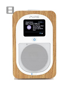 Pure Pure Evoke H3 DAB/FM Bluetooth Digital Radio, Oak