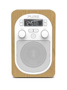 Image of Pure Pure Evoke H2 Dab/Fm Portable Digital Radio, Oak