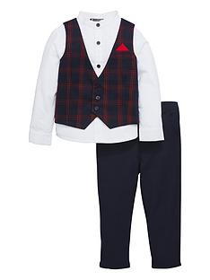 mini-v-by-very-boys-navy-amp-red-tartan-3-piece-occasion-outfit