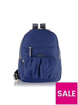 Radley Primrose Street Large Ziptop Backpack Navy Very Co Uk