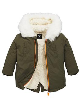 mini-v-by-very-boys-cosy-lined-khaki-parka
