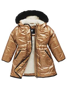 mini-v-by-very-girls-longline-metallic-faux-fur-trim-coat