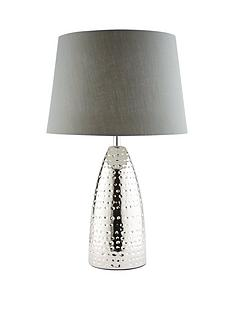 Mila Grey Silver Dimple Table Lamp
