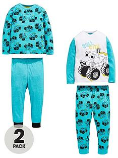 mini-v-by-very-boys-2-pack-monster-truck-pyjamas