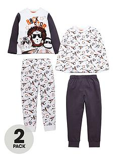 mini-v-by-very-boys-2-pack-animal-rock-star-pyjamas