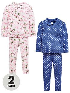 mini-v-by-very-girls-2-pack-floral-amp-polka-dot-pyjamas
