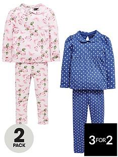 mini-v-by-very-girls-2-pack-floral-amp-polka-dot-pyjamas