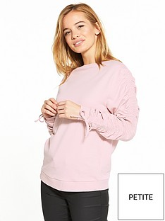 v-by-very-petite-ruched-sweat-top