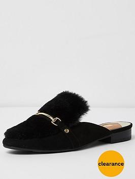 river-island-black-backless-loafer
