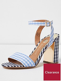 river-island-river-island-pretty-gingham-block-heel-barely-there