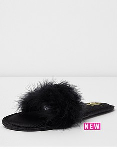 river-island-black-fur-slipper