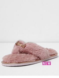river-island-bow-trim-flip-flop-slipper