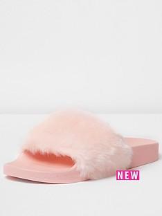 river-island-ally-2-fur-slide-pink