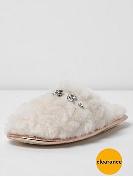 river-island-diamante-closed-toe-slipper