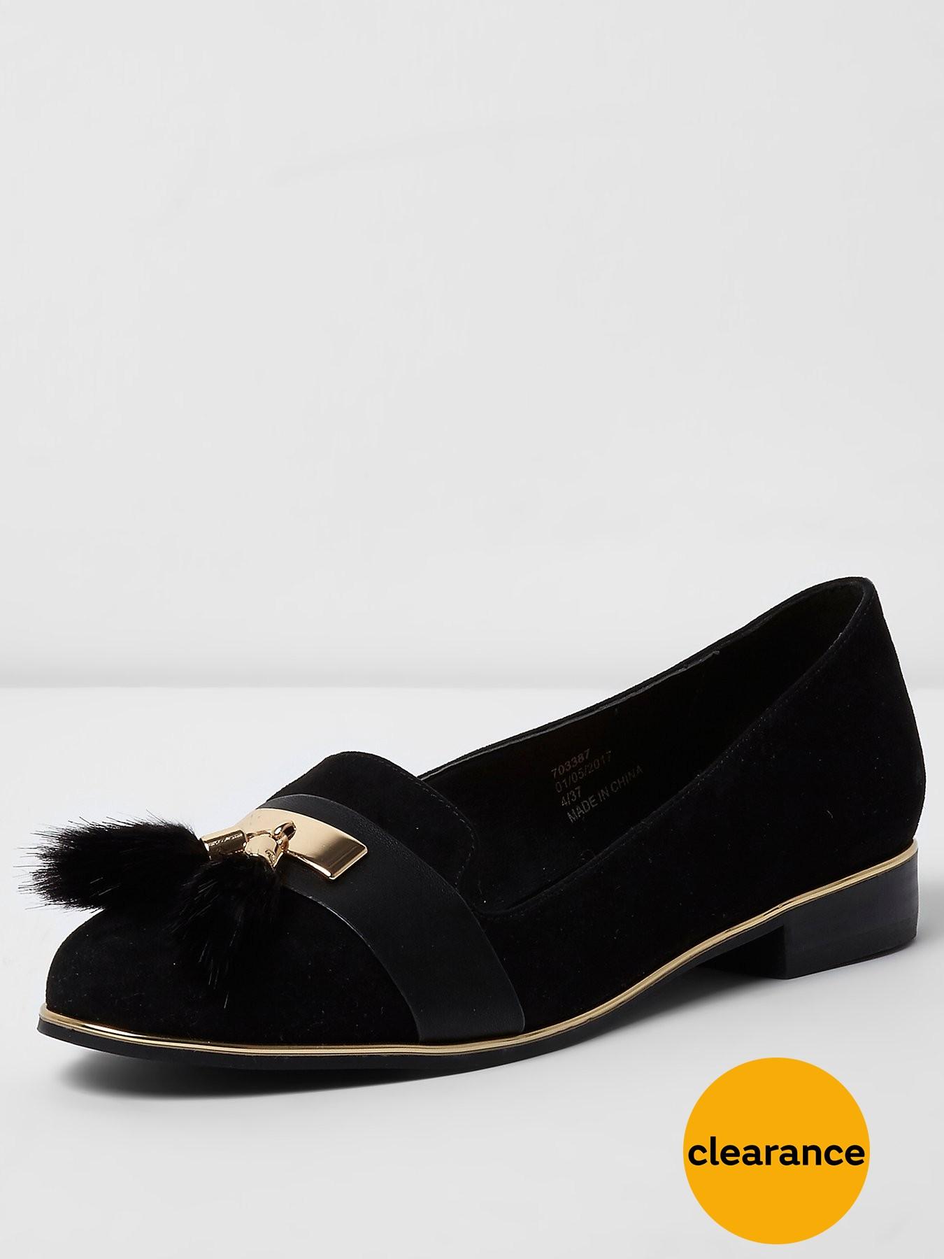River Island Black Rat Slipper Shoe 1600171684 Women's Shoes River Island Flats