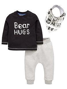 mini-v-by-very-baby-boys-039bear-hugs039-set-with-bib