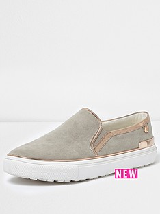 river-island-river-island-raisin-gold-trim-plimsoll