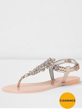river-island-river-island-milo-light-pink-metallic-jelly-sandal