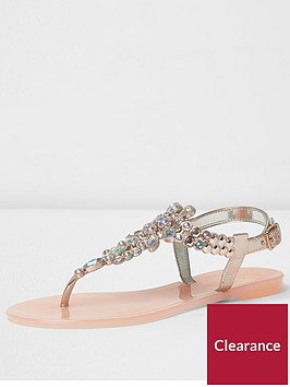 river-island-river-island-milo-light-pink-metallic-jelly-sandal