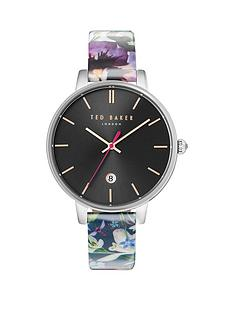 ted-baker-black-date-dial-floral-strap-ladies-watch